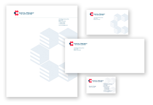 Capital Project Strategies stationery suite